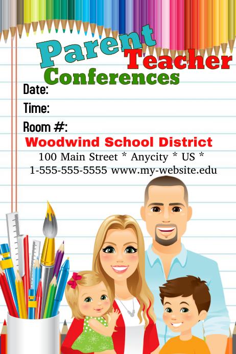 parent flyer templates - parent teacher confetencez postermywall