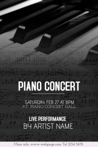 Customizable Design Templates For Piano Event Postermywall