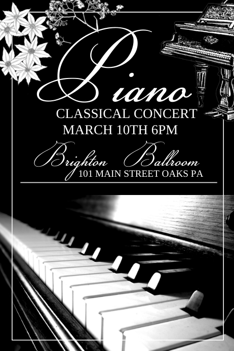 Piano Concert template : PosterMyWall