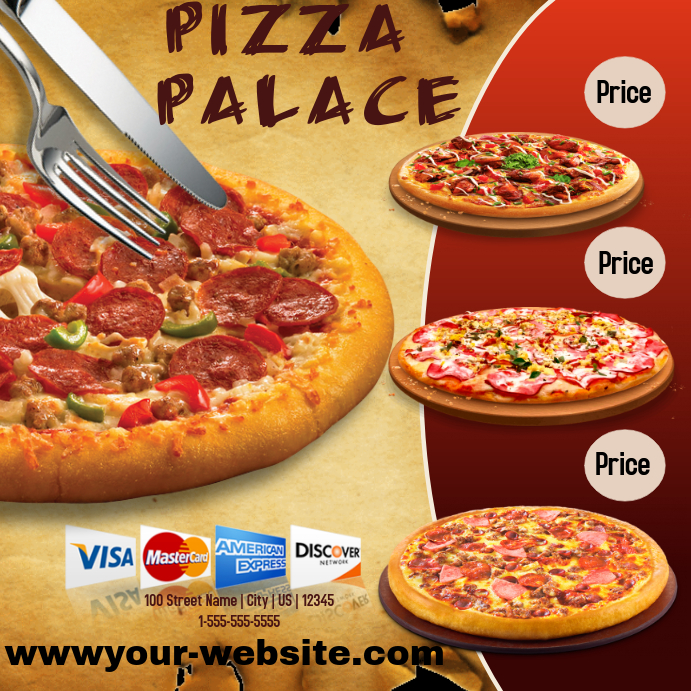 pizza sale flyer template - pizza palace template postermywall
