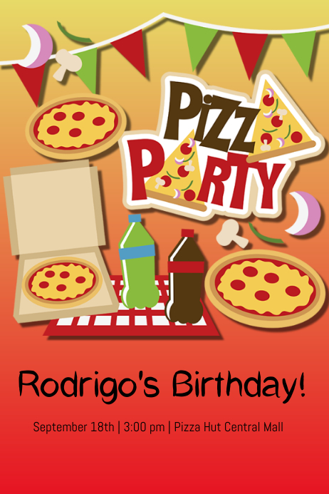 Pizza party template postermywall for Pizza sale flyer template