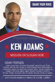 political voting campaign flyer template