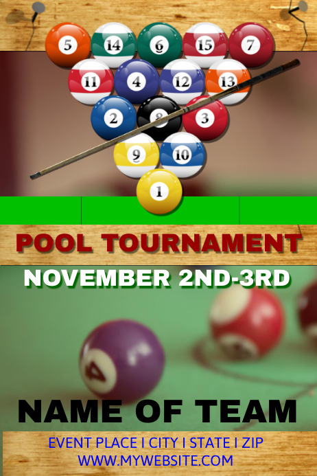 pool tournament template