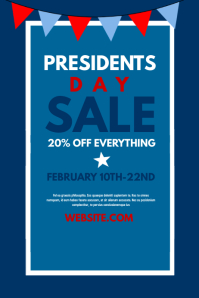 president's day poster template