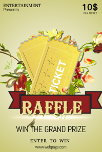 christmas raffle poster templates - customizable design templates for raffle postermywall