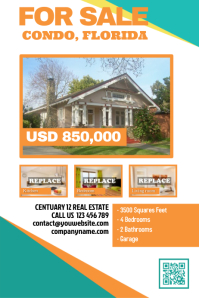 real estate flyer templates postermywall. Black Bedroom Furniture Sets. Home Design Ideas