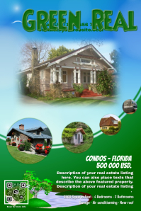 real estate flyers  templates amp printing  postermywall poster template poster template