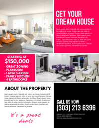 Real estate flyer templates postermywall for Rental property flyer template