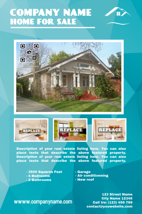Cute real estate poster template postermywall for Poster prints for sale