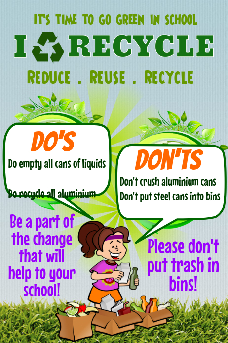 How To Design A Recycling Poster