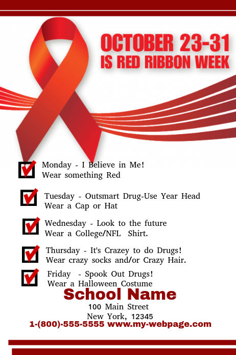 Red Ribbon Week Postermywall
