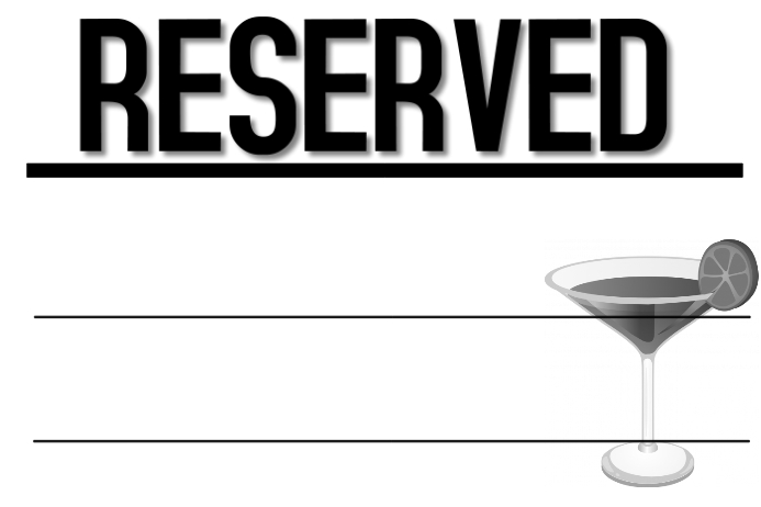 reserved bar sign template postermywall. Black Bedroom Furniture Sets. Home Design Ideas