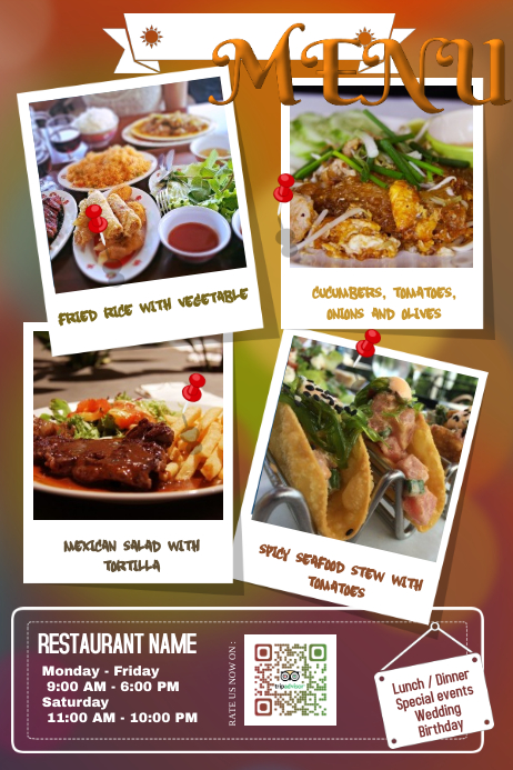 Creative restaurant flyers and poster