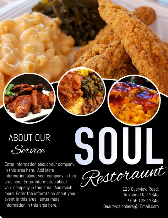 Restaurant template postermywall