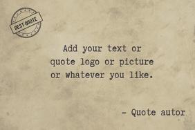 retro typwtriter quote old paper template