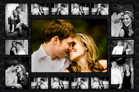 romantic photo collage poster template