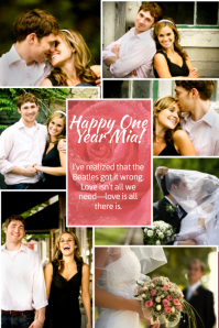 Valentines photo collage template