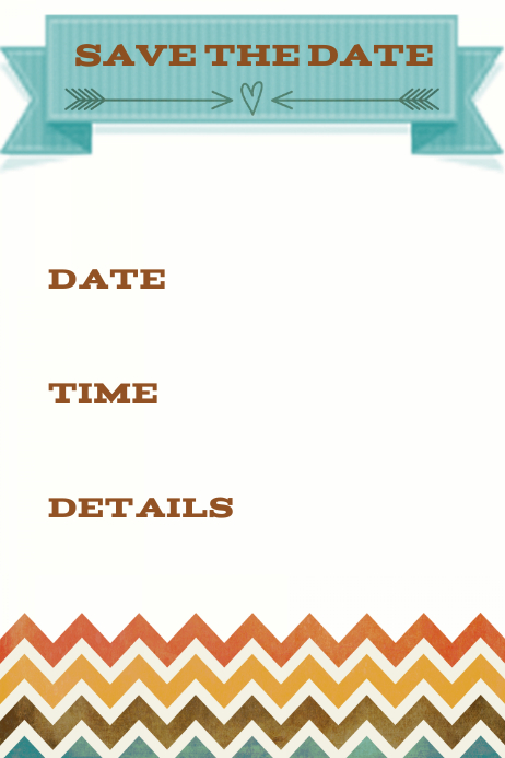 save the date announcement invitation chevron fall. Black Bedroom Furniture Sets. Home Design Ideas