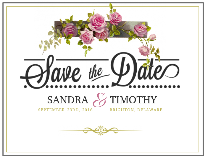 Save the date template in Sydney