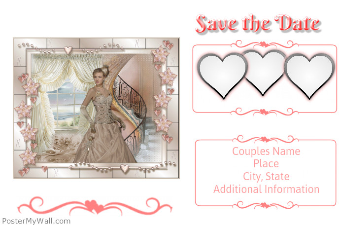 postermywall save the date postcard. Black Bedroom Furniture Sets. Home Design Ideas