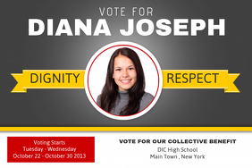 free campaign poster template
