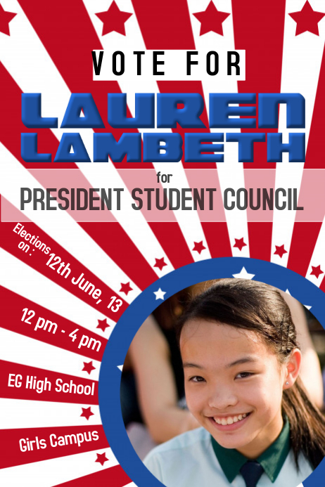 Election Poster Template Student Council Election Poster ...