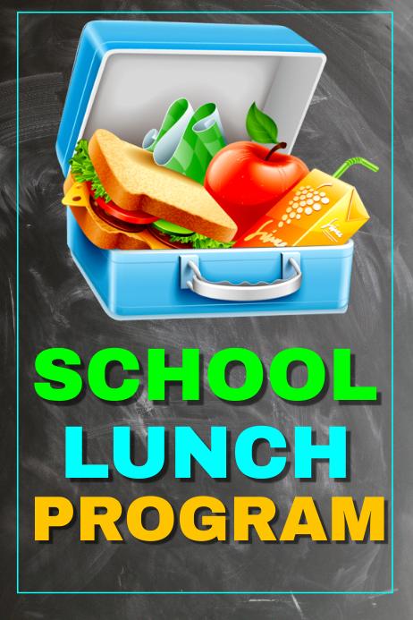 school lunch program template