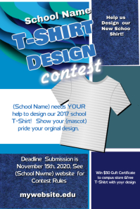 Contest poster templates postermywall for T shirt design contest flyer