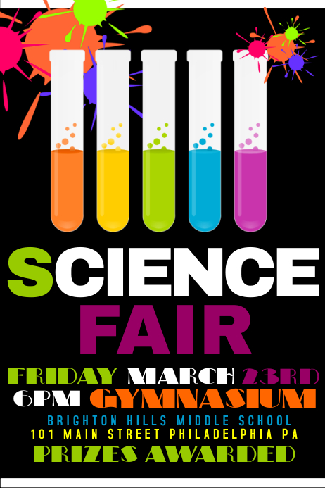 Science fair postermywall for Science fair poster templates