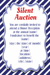 Customizable Design Templates For Silent Auction