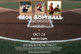 Softball Poster Template