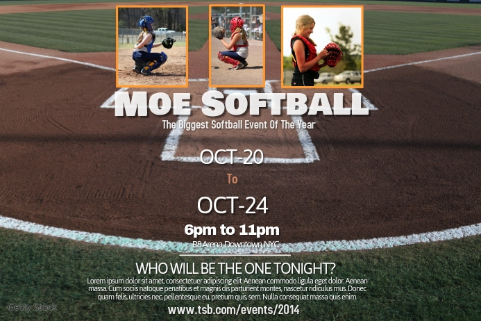 Softball poster template postermywall for Softball flyers templates