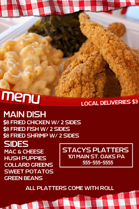 Soul food menu templates pictures to pin on pinterest for Soul fish menu