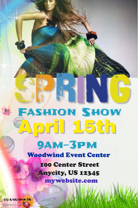 PosterMyWall | Spring Fashion Show Flyer
