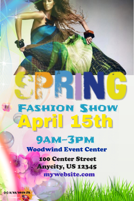 Spring Fashion Show Template Postermywall
