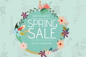 spring sale flyer template landscape