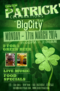 st patricks day event flyer template