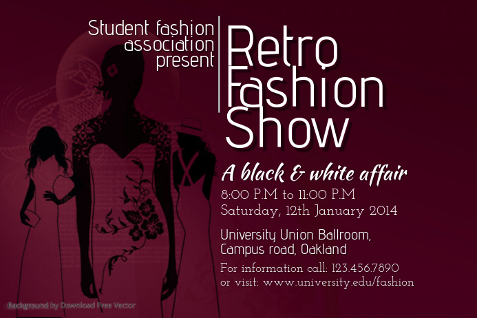 Student Fashion Show Poster Template Postermywall