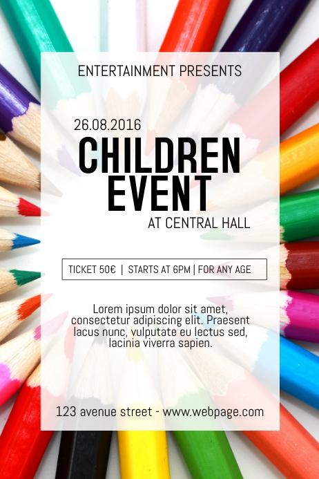 Summer Children Kids event ccourse Poster Flyer Template ...
