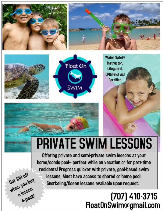 swim lesson template