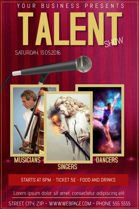 talent show flyer template - Hong.hankk.co