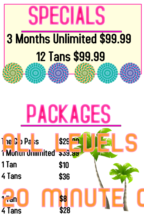 Tanning salon prices template postermywall - Tanning salons prices ...