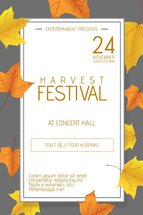 Thanksgiving Harvest Festival Poster Flyer Template ...