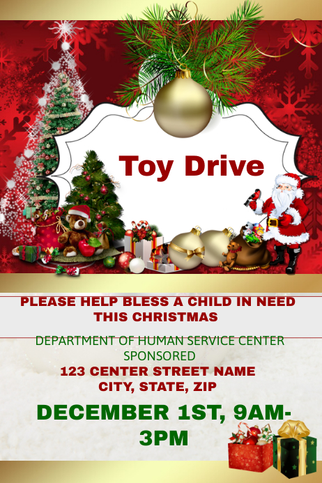 Toy Drive Flyer : Toy drive template postermywall