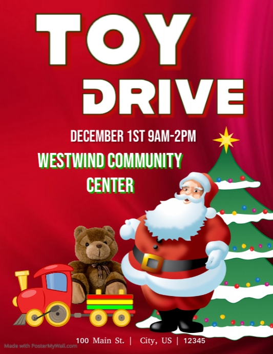 Toy Drive Flyer Template : Toy drive template postermywall