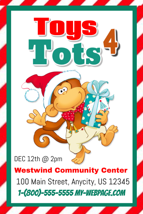 Toys For Tots Flyers Editable : Toys tots postermywall