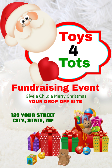 Toys For Tots Flyers Editable : Toys tots template postermywall