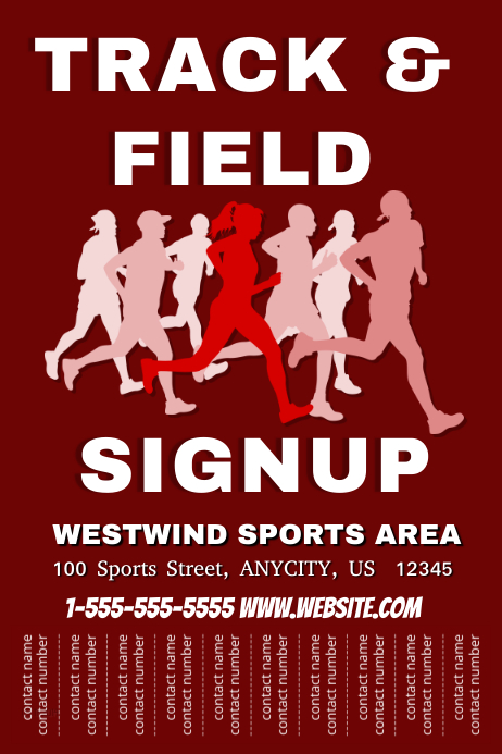 track and field signup template