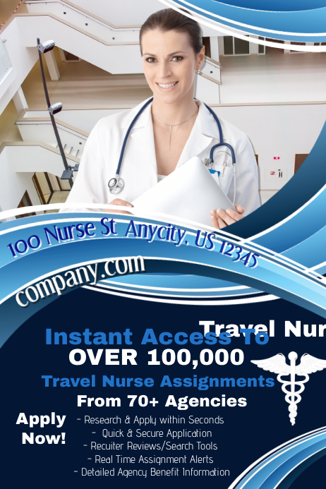 Travel nurse source template postermywall for Nurses week flyer templates