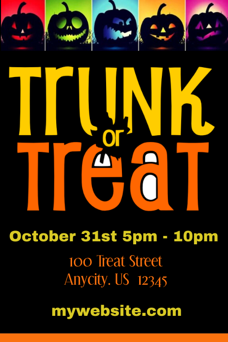 PosterMyWall | Truck or Treat Halloween Sale Flyer